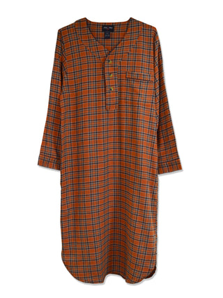 Foxfire 100% Cotton Flannel Men's Nightshirts - Tall Man Sizes
