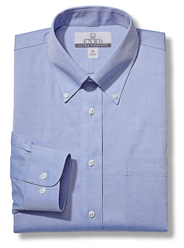 Enro Non-Iron Pinpoint Oxford Shirts 163081 - Regu