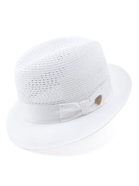Dobbs Milan Vented Straw Madison Hat in White