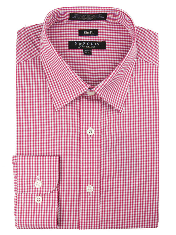 Marquis Cotton Blend Slim Fit Dress Shirts 006SL in Magenta