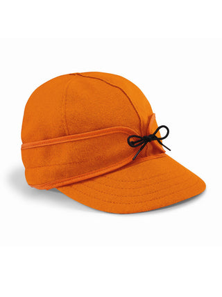 Origional Stormy Kromer Caps With Ear Band in Orange - 50010-ORA
