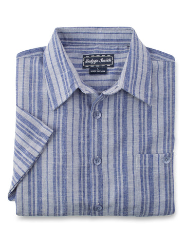 Indygo Smith Polyester Blend Sport Shirts in Blue