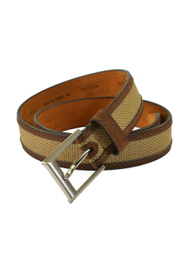 Lejon Oil Tanned Nu-Buck Back Nine Belts in Beige