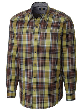 Cutter & Buck 100% Cotton L/S Griffin Plaid Sport
