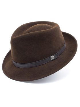 Stetson 100% Wool Felt Prof Hats in Brown