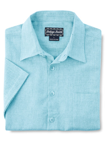 Indygo Smith Short Sleeve Sport Shirt in Blue - Ta
