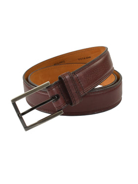 Lejon Glove Tanned Leather Dignitary Belts in Merlot