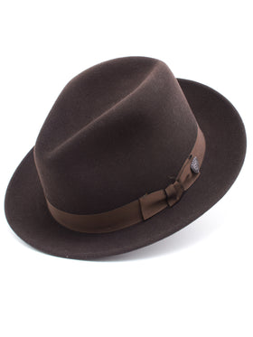 Dobbs 100% Wool Felt 'Fox' Hat in Cordovan
