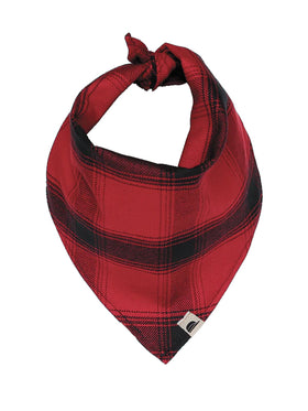 Stormy Kromer Pet Bandana in Red/Black Plaid