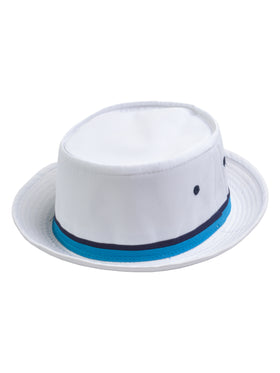 Dorfman Pacific Roll Up Bucket Hat in WHITE - 830K