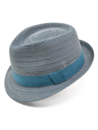 Henschel Viscose Braid Fedora Hat in Blue