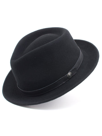 Stetson 100% Wool Felt Prof Hats in Black
