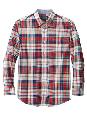 Pendleton Long Sleeve Madras Shirt in Blue/Red - R