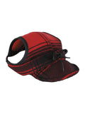 Stormy Kromer Critter Kromer Hat in Red/Black Plai