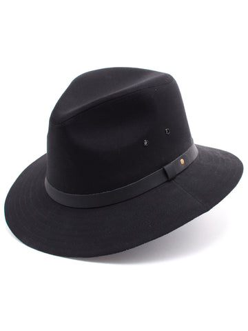 Dobbs Cotton Blend Gable Men's Hats in Black