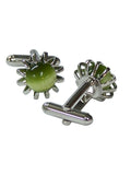 Status Men's Stone Cufflinks in Green