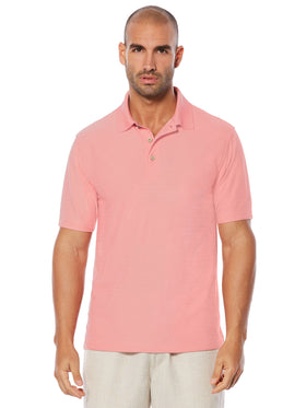 Cubavera Short Sleeve Moisture Wicking Herringbone