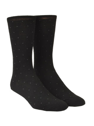 Old World Wool Blend Pindot Dress Socks - Regular Sizes
