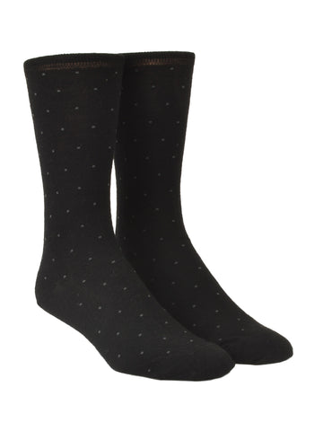Old World Wool Blend Pindot Dress Socks - Regular