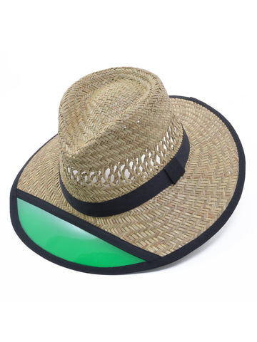 Turner Straw Hat with Green Visor