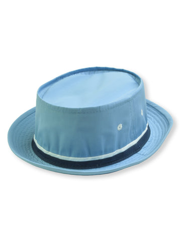 Dorfman Pacific Roll Up Bucket Hat in LIGHT BLUE -