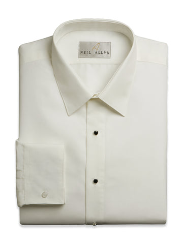Neil Allyn Laydown Collar Men's Dress Shirts in Iv