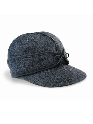 Origional Stormy Kromer Caps With Ear Band in Charcoal Grey - 50010-CHA