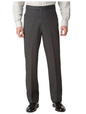 Ascott Browne 100% Polyester Beltless Western Front Pants in Charcoal Grey - Short Man Sizes