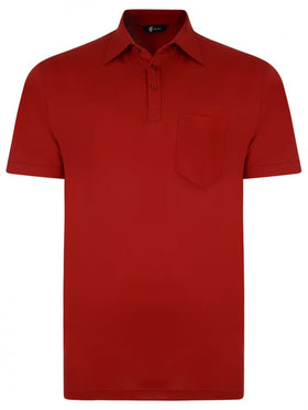 Gabicci Short Sleeve Cotton Blend Polo in Red - G0