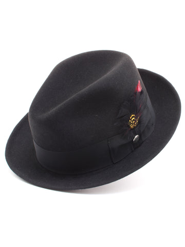 Stetson 100% Pure Wool Felt Frederick Hats in Blac