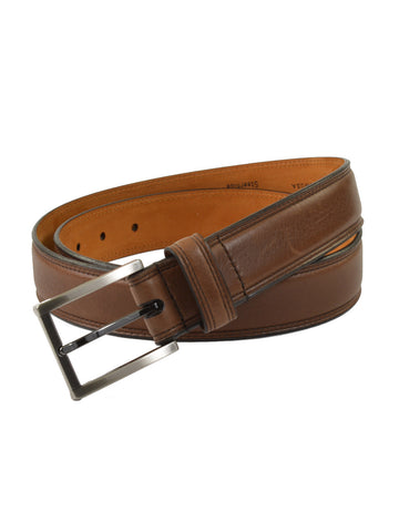 Lejon Glove Tanned Leather Dignitary Belts in Brow