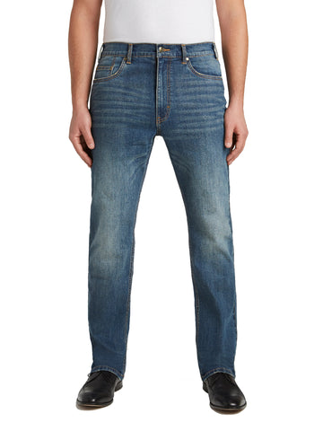 Grand River Distressed Stretch Jeans in Medium Was