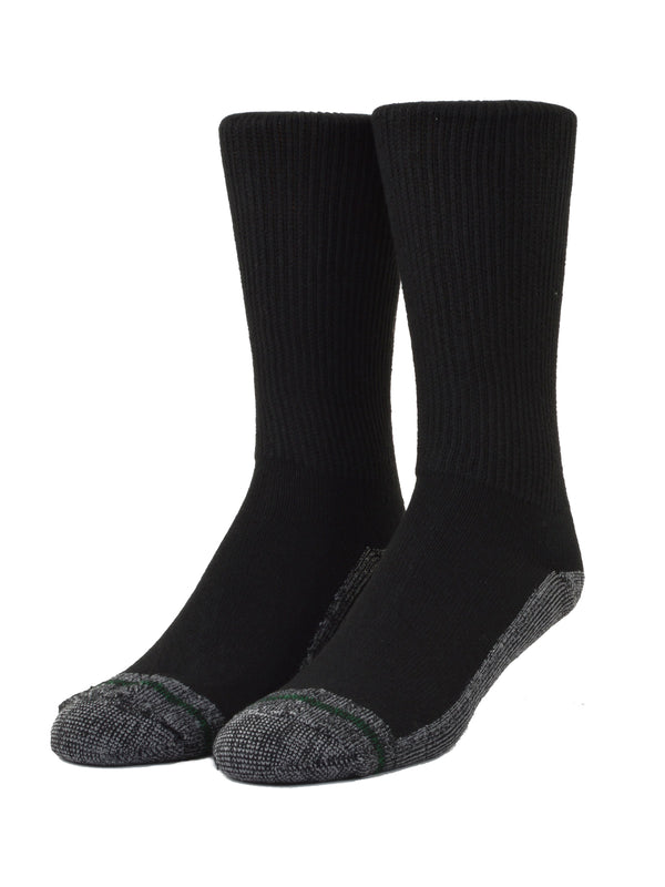 Loose Fit Stays Up Crew Athletic Socks in Black - Small (Size 5 - 8) - 771
