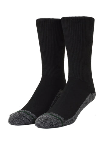 Loose Fit Stays Up Crew Athletic Socks in Black -