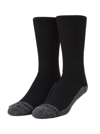 Loose Fit Stays Up Crew Athletic Socks in Black - Medium (Size 8.5 - 11.5) - 781