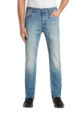 Grand River Distressed Stretch Jeans in Light Wash