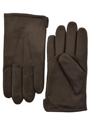 Lauer Men's Leather Lauer Gloves in Brown - 1854-B
