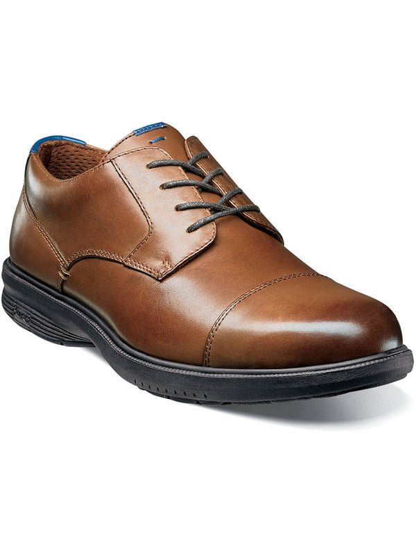 Nunn Bush Melvin Street Cap Toe Oxford Shoes in Tan - Extra Wide Width