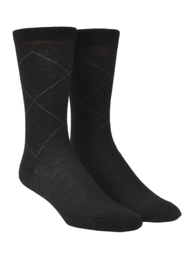 Old World Wool Blend Argyle Dress Socks - Regular