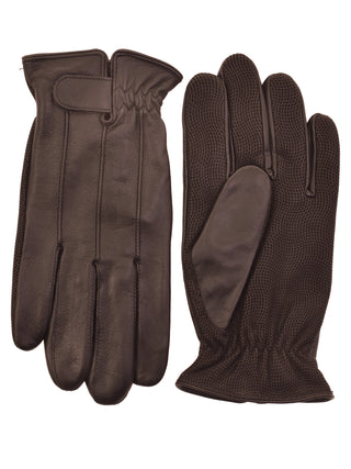 Lauer Sheepskin Leather Driving Gloves by Milwaukee in Brown - 1807-BRN