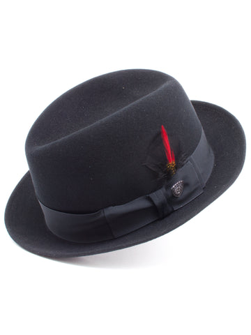 Dobbs 100% Wool Felt Men's Randall Hats in Black