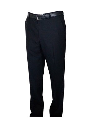 Berle Wool Blend Self Sizing Dress Pants - Short Man Sizes - CHARCOAL