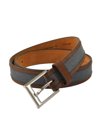 Lejon Oil Tanned Nu-Buck Back Nine Belts in Blue -