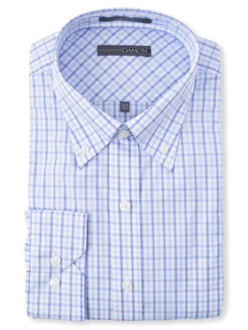 Damon Long Sleeve Dixon Check Dress Shirts in Blue
