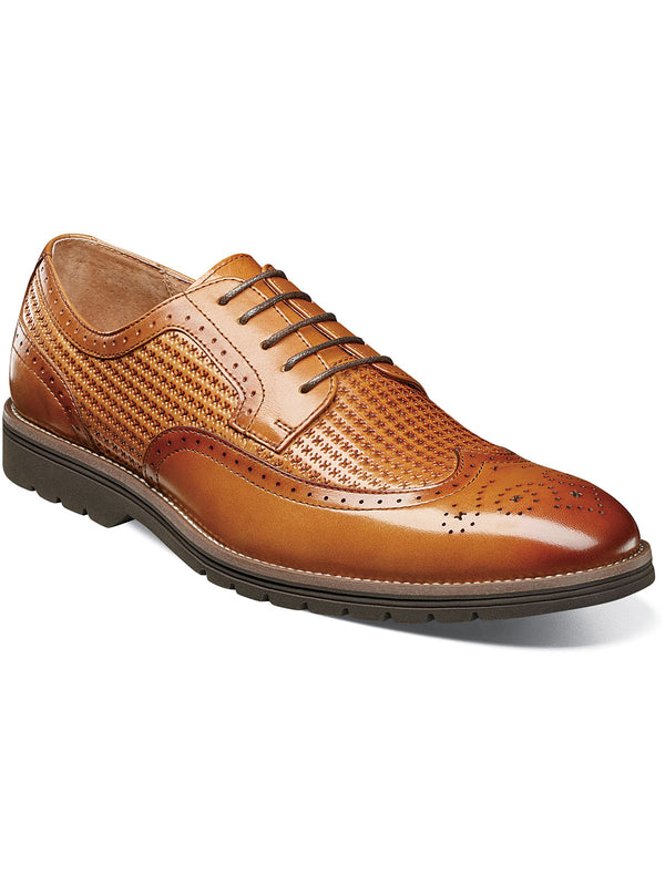 Stacy Adams Emile Wingtip Oxford Dress Shoes in Tan