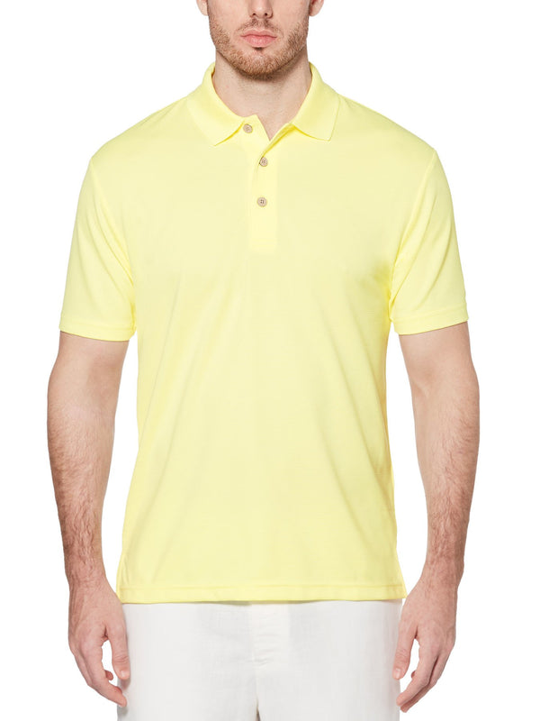 Cubavera Short Sleeve Moisture Wicking Ottoman Polo in Yellow