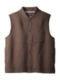 Pendleton Cotton Blend Men's Quilted Vest in Brown