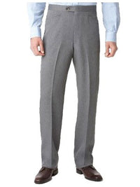Ascott Browne 100% Polyester Beltless Western Front Pants in Medium Grey - Short Man Sizes