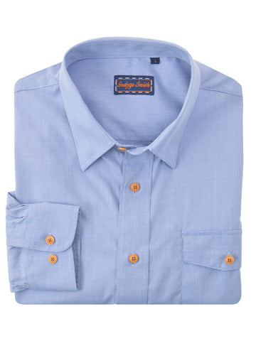 Indygo Smith Cotton Blend Houndstooth Sport Shirts