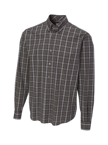 Cutter & Buck 100% Cotton L/S Cascade Plaid Sport